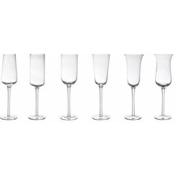 Bitossi Champagne glas Flute  set van 6 Helder