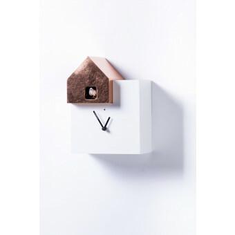 Diamantini Domeniconi Ettore 2057 Koekoeksklok Wit met dak Koper