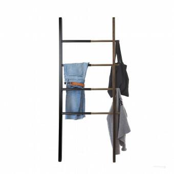Umbra HUB Uitschuifbare Handoek - Kledingrek Zwart / Walnoot