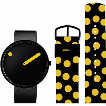 PICTO WATCH THE ORIGINAL KUSAMA 40 MM ZWART STAAL