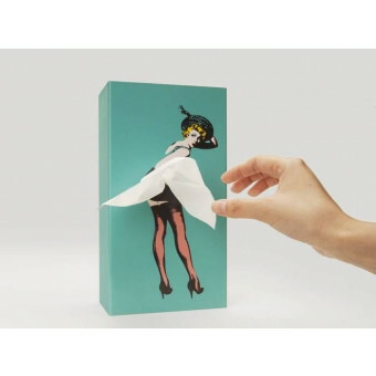 Tissue Up Girl Tissuedispenser Mint Groen