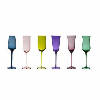 Bitossi Champagne glas Flute  set van 6 FC