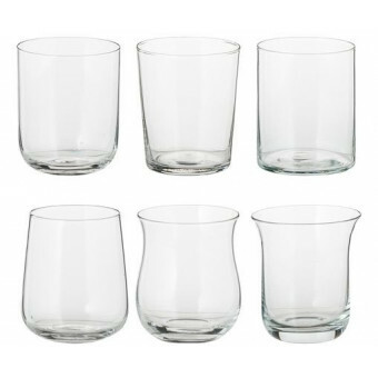 Bitossi Water glas set van 6 Helder