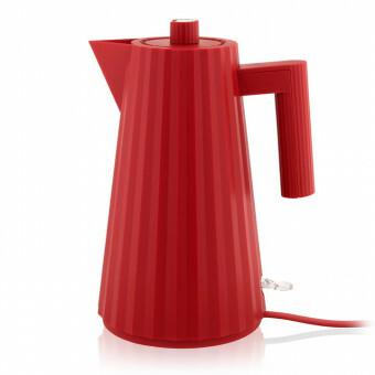Alessi Plisse Waterkoker 1,7 liter Rood