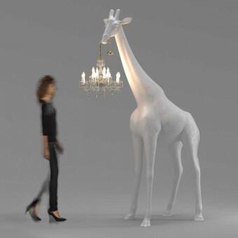 Qeeboo Giraffe in Love M Wit