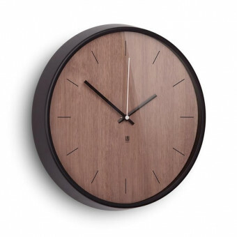 Umbra Wandklok Madera Walnoot/ Black