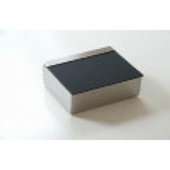 Studio Van Eldik Tissue Box RVS/mat met zwart deksel