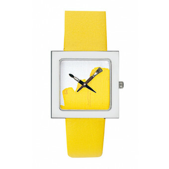 Akteo Horloge Paint Kubik Yellow