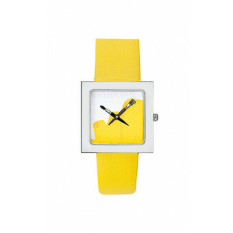 Akteo Horloge Paint Kubik Lady Yellow