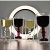 Bitossi DW Wijnglas Rood en Wit Dubbelwandig set van 2